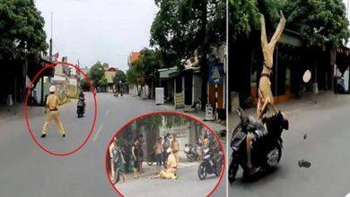 """Photo of """"Quái xế"""" tông xe máy vào CSGT có thể đối mặt với tội giết người?"""