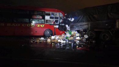 Photo of Xe khách giường nằm đấu đầu ôtô tải, hai tài xế tử vong