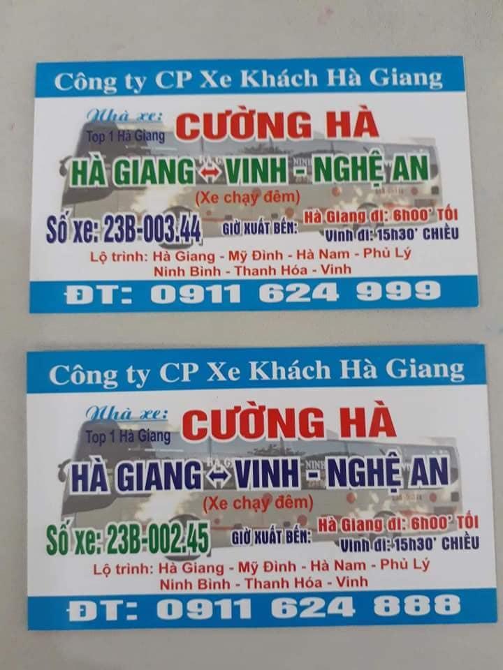 Nhà xe Cường Hà (Hà Giang - Vinh - Nghệ An)