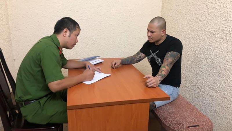 Quang Rambo tại Phòng CSHS - CATP Hà Nội