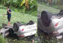 Photo of Tài xế thiệt mạng trong xe taxi lật ngửa dưới mương nước ở Bắc Ninh