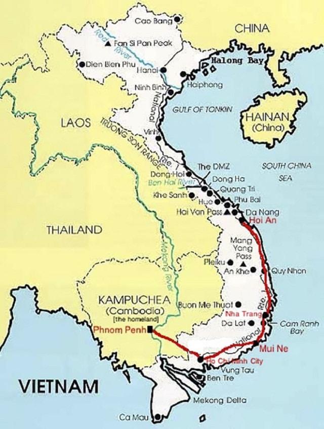 Theo bản đồ địa lý, Việt Nam có đường biên giới dài giáp với Lào