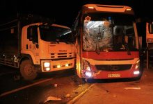 Photo of Xe khách Thành Bưởi va chạm với xe tải khiến hàng chục hành khách hú vía