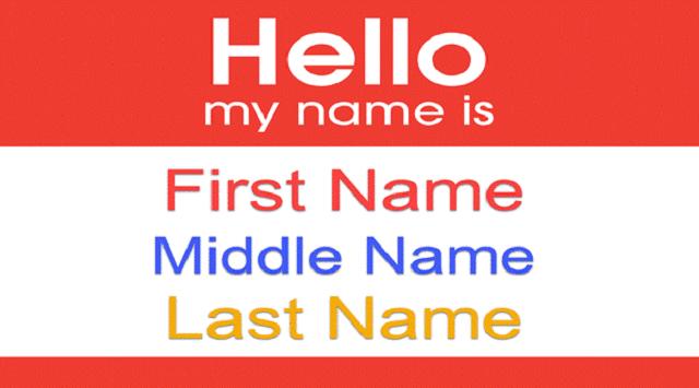 Gọi tên bằng tiếng Anh luôn bắt đầu từ tên chính