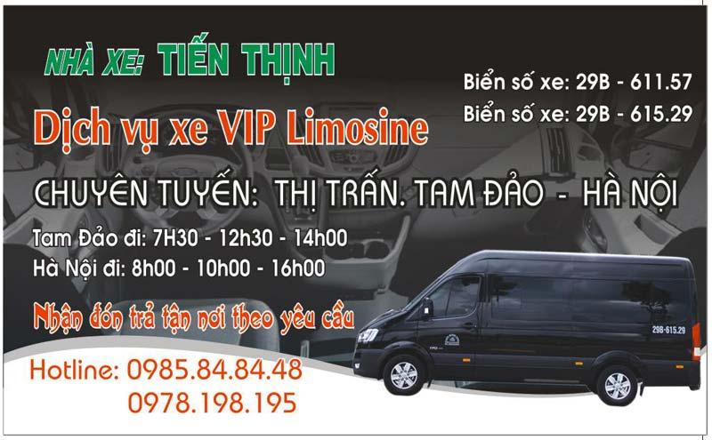 Tiến Thịnh limousine Tam Đảo - Hà Nội