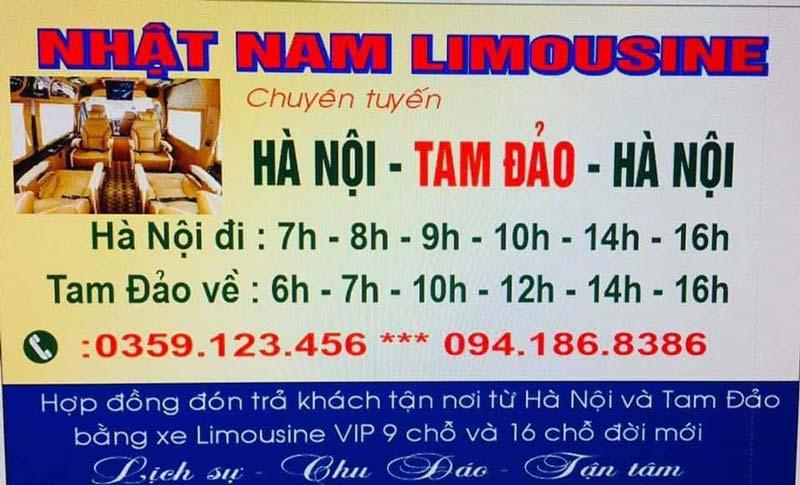 Nhật Nam Limousine chuyên tuyến Hà Nội đi Tam Đảo