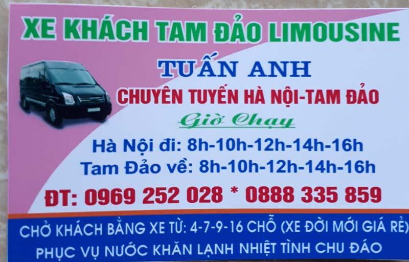 Xe khách limousine Tuấn Anh (Hà Nội - Tam Đảo)