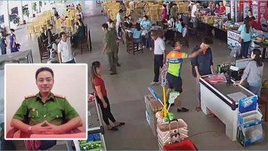 Photo of VIDEO: Con chưa trả tiền, thượng úy công an ném xúc xích, đánh vào mặt nhân viên