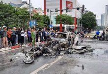 Photo of Tìm người nhà nạn nhân trong vụ xe Mercedes gây tai nạn rồi bốc cháy