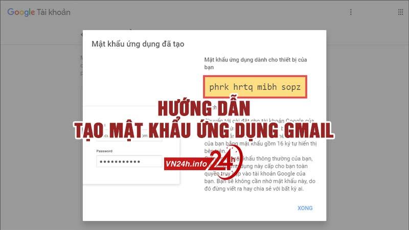 Mật khẩu ứng dụng Gmail là gì?