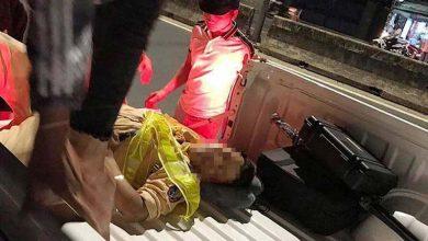 Photo of Thiếu tá CSGT bị xe máy tông mạnh từ phía sau khi đang dừng xe kiểm tra vi phạm