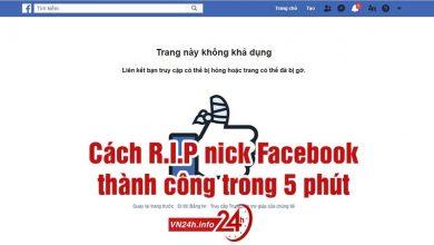 Cách R.I.P nickFacebook