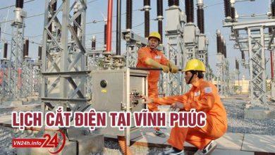 Photo of Lịch cắt điện tại Vĩnh Phúc từ ngày 01/12-15/12/2019