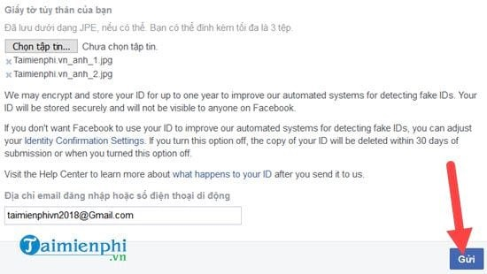 Có thể mở khóa tài khoản Facebook bằng cách gửi thông tin cá nhân