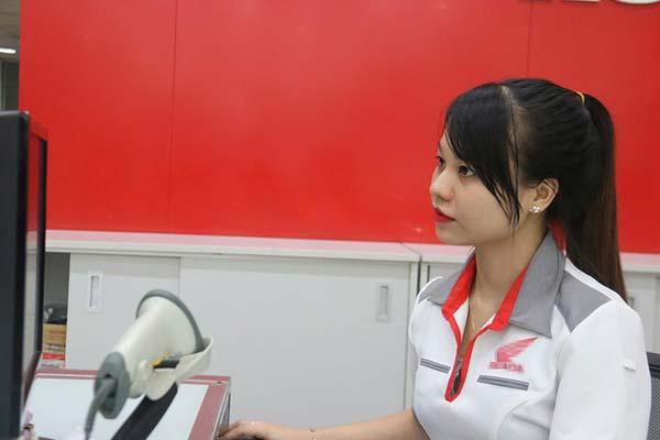 Nguyễn Thị Lệ Thu (quê Bắc Giang), sinh năm 1994 đang là kế toán cho một công ty tại Hà Nội. Ảnh: Nguyễn Thảo
