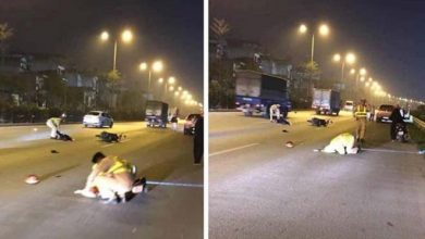 Photo of Thanh niên phóng xe máy tông gục Thượng uý CSGT trên QL5