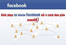 Khôi phục tài khoản Facebook