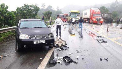 Photo of Tai nạn liên hoàn giữa 4 ô tô trên cao tốc Nội Bài-Lào Cai