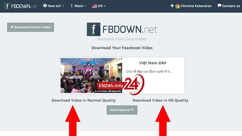 Download video Facebook Full HD từ fbdown.net