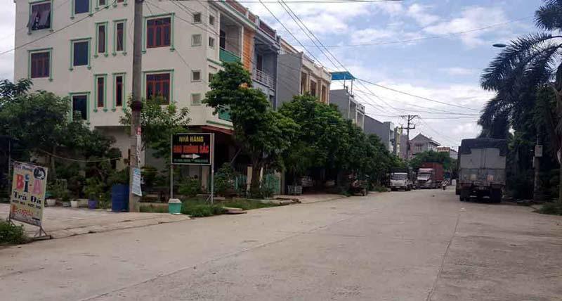 Một góc thị trấn Yên Lạc, Vĩnh Phúc.