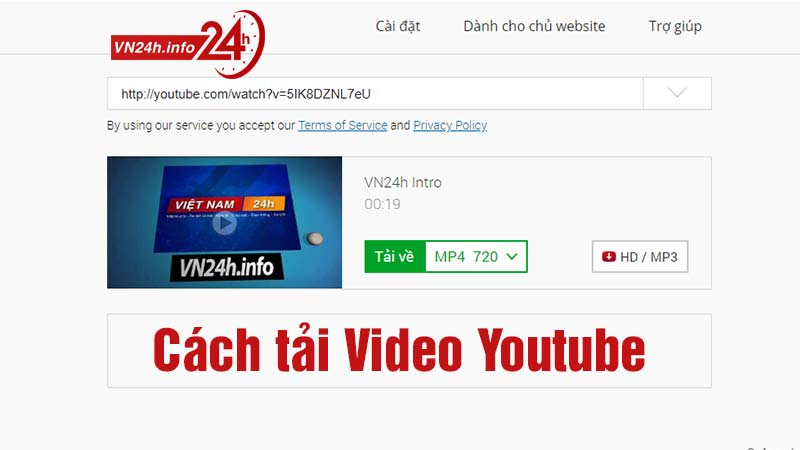 Cách tải Video Youtube Full HD