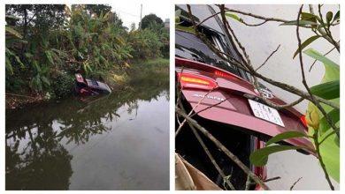 Photo of Ô tô mất lái lao xuống ao, cặp vợ chồng trong xe thiệt mạng