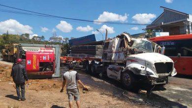 Photo of Tai nạn liên hoàn trên QL14, giao thông tê liệt nhiều giờ đồng hồ