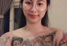 Photo of Người mẹ trẻ Vĩnh Phúc xăm cả gia đình lên ngực