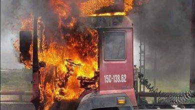 Photo of Video: Container bốc cháy dữ dội trên QL5
