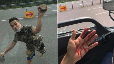 Photo of VIDEO: Lái xe tải bị kẻ lạ mặt cầm dao truy đuổi, ném đá vào mặt